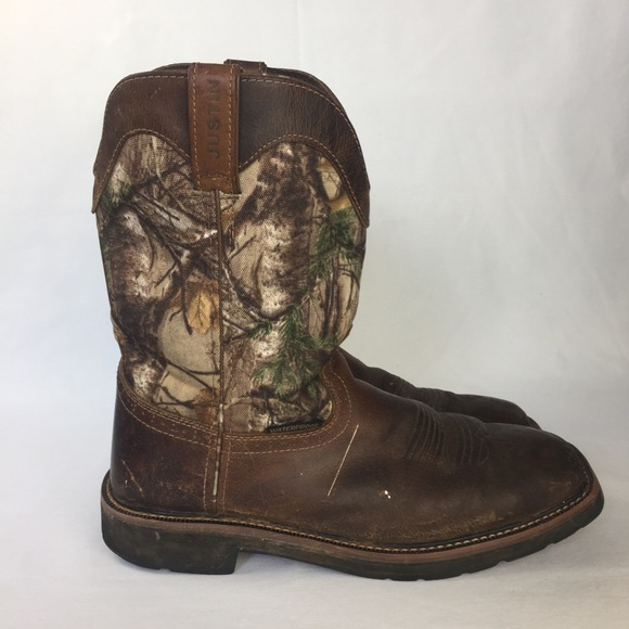 12d8772948760 Justin Boots Shoes   Justin Stampede Camouflage Waterproof Work ...